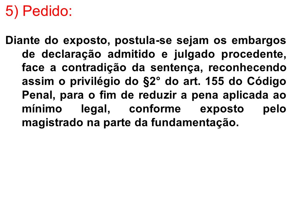 5) Pedido: