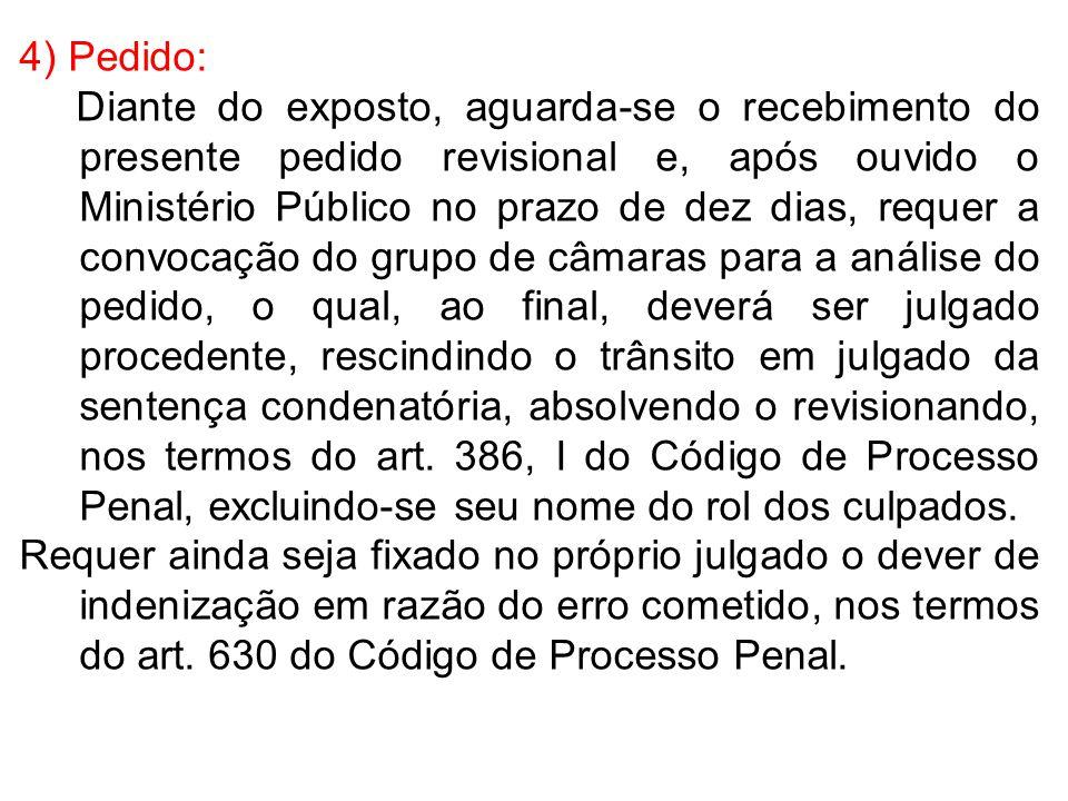 4) Pedido:
