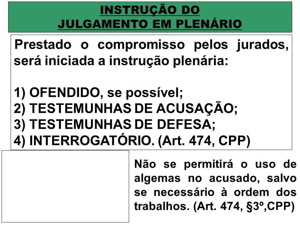 INSTRUÇÃO DO JULGAMENTO EM PLENÁRIO