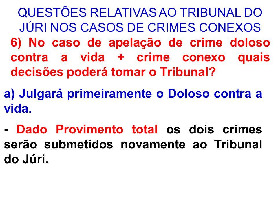 QUESTÕES RELATIVAS AO TRIBUNAL DO JÚRI NOS CASOS DE CRIMES CONEXOS