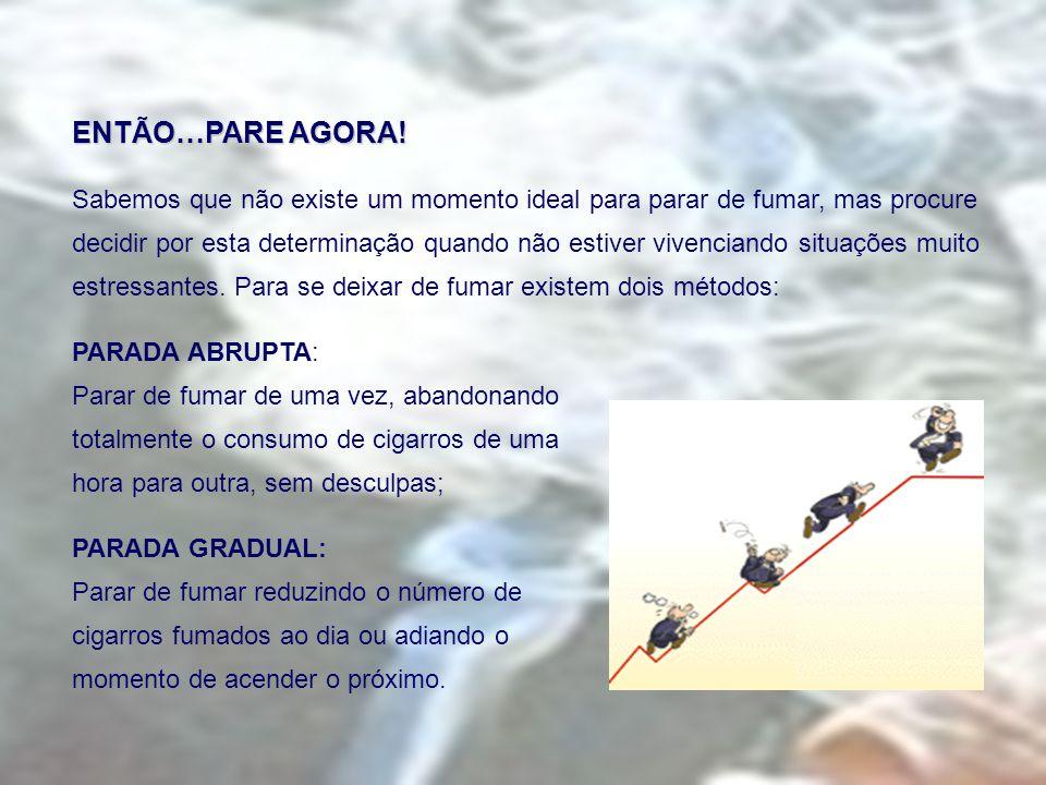 ENTÃO…PARE AGORA! Sabemos que não existe um momento ideal para parar de fumar, mas procure.