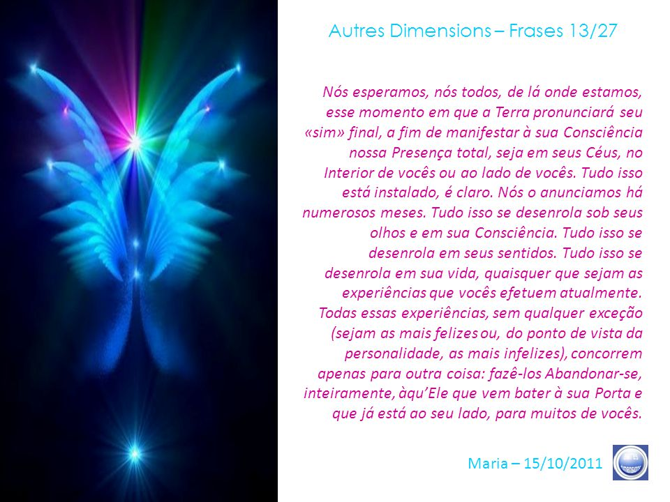Autres Dimensions – Frases 13/27