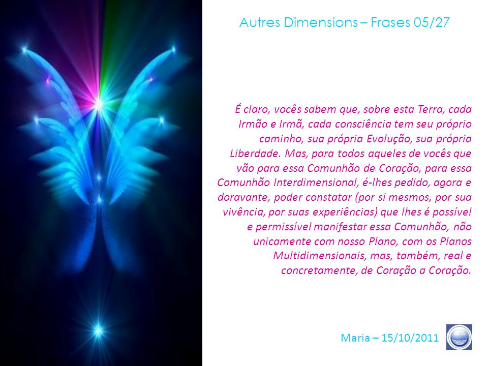 Autres Dimensions – Frases 05/27