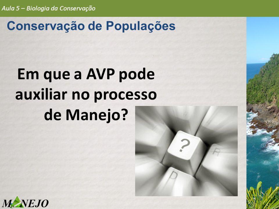 Em que a AVP pode auxiliar no processo de Manejo