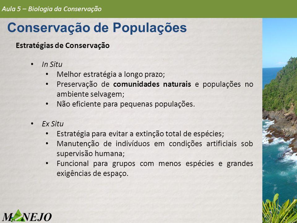Conservação de Populações
