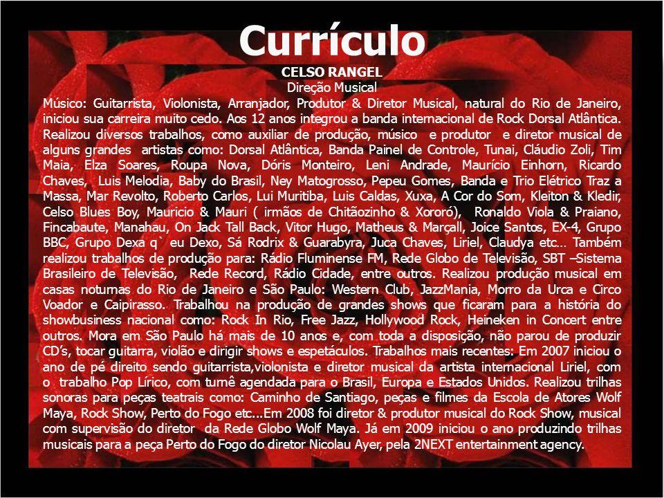 Currículo CELSO RANGEL Direção Musical