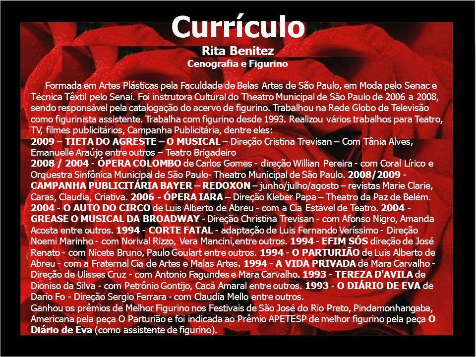 Currículo Rita Benitez Cenografia e Figurino