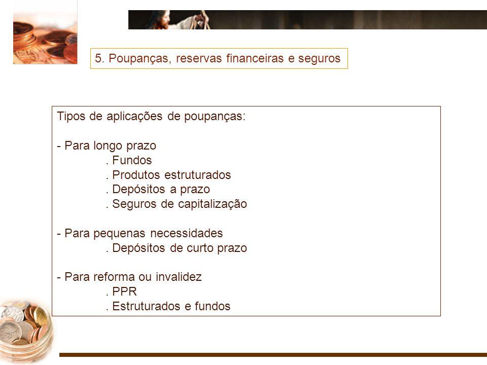 5. Poupanças, reservas financeiras e seguros