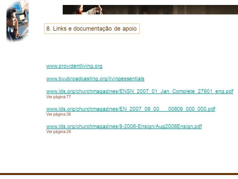 8. Links e documentação de apoio