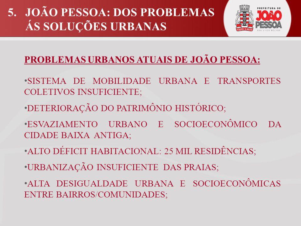 5. JOÃO PESSOA: DOS PROBLEMAS ÁS SOLUÇÕES URBANAS