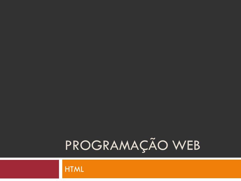 Programação WEB HTML