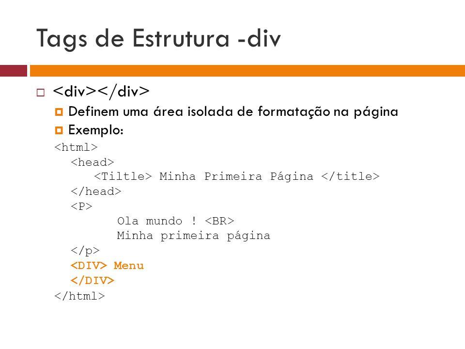 Tags de Estrutura -div <div></div>