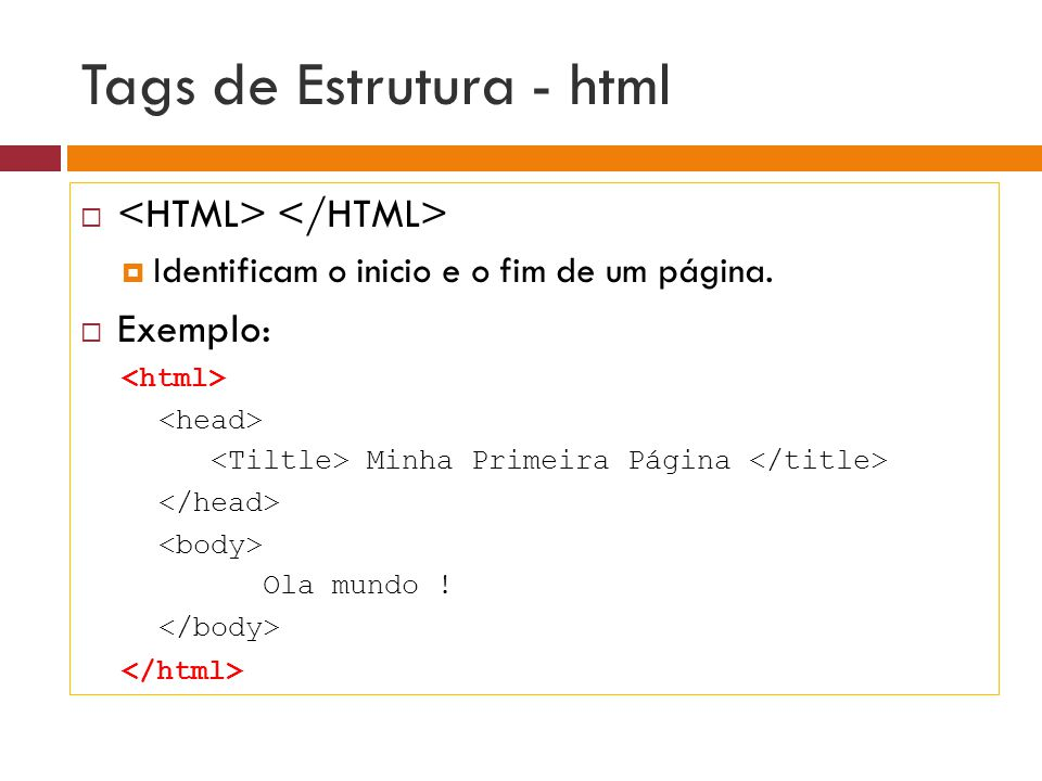 Tags de Estrutura - html