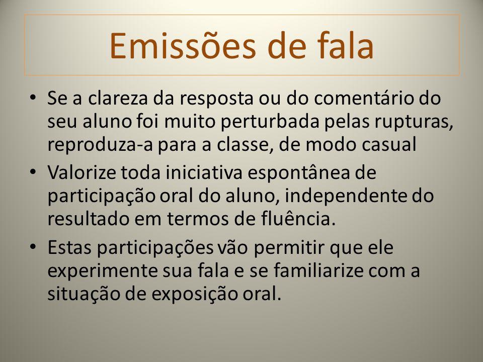 Emissões de fala