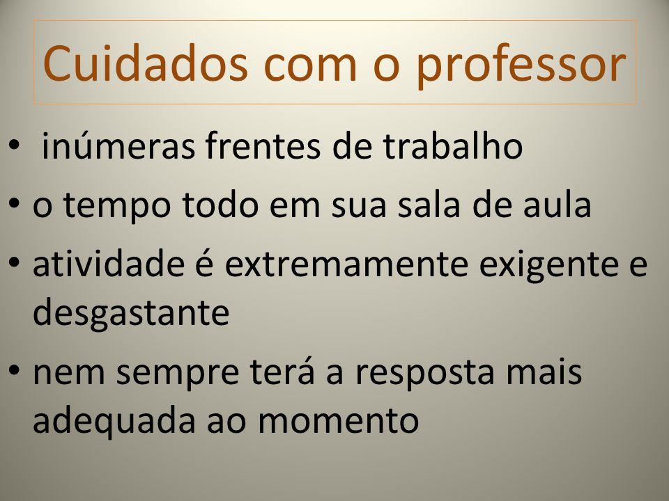 Cuidados com o professor