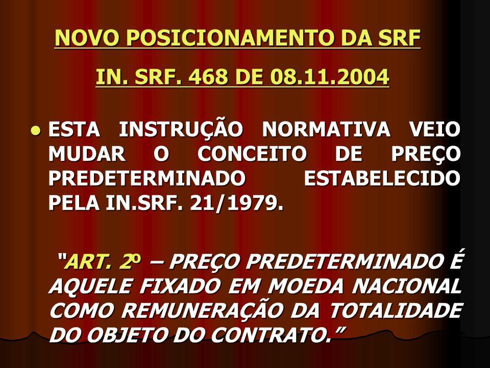 NOVO POSICIONAMENTO DA SRF