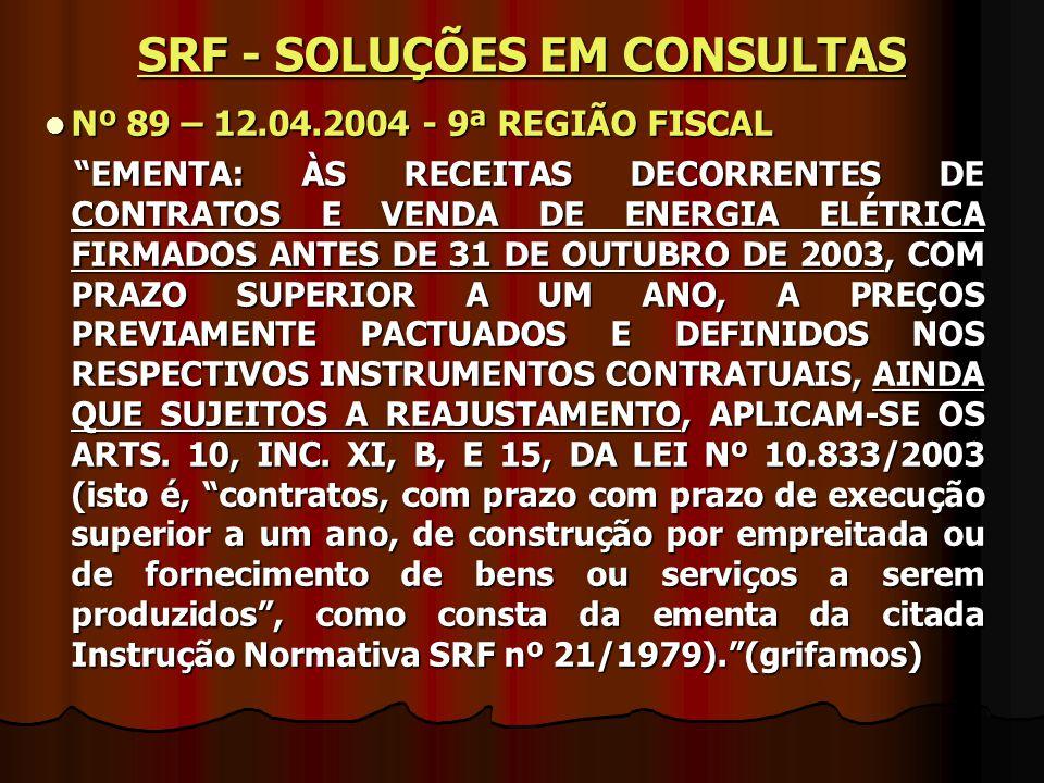 SRF - SOLUÇÕES EM CONSULTAS