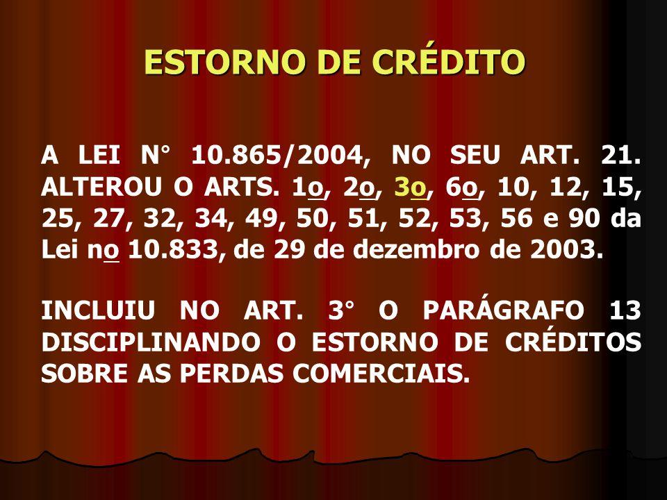 ESTORNO DE CRÉDITO
