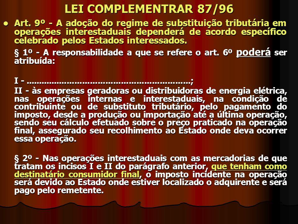 LEI COMPLEMENTRAR 87/96