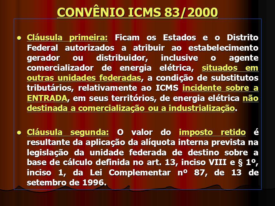 CONVÊNIO ICMS 83/2000
