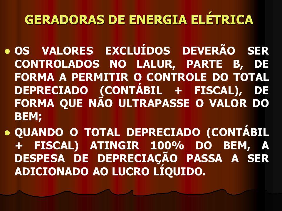 GERADORAS DE ENERGIA ELÉTRICA