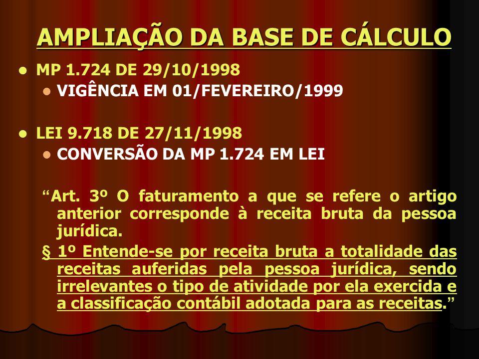 AMPLIAÇÃO DA BASE DE CÁLCULO