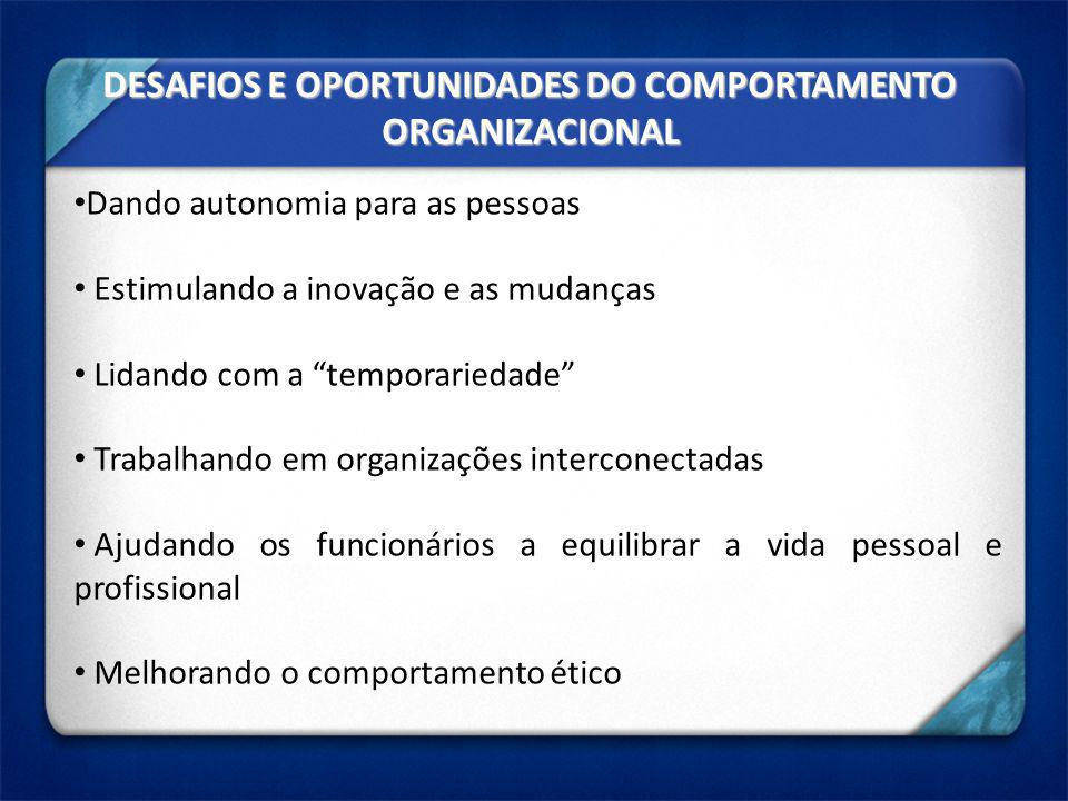 DESAFIOS E OPORTUNIDADES DO COMPORTAMENTO ORGANIZACIONAL