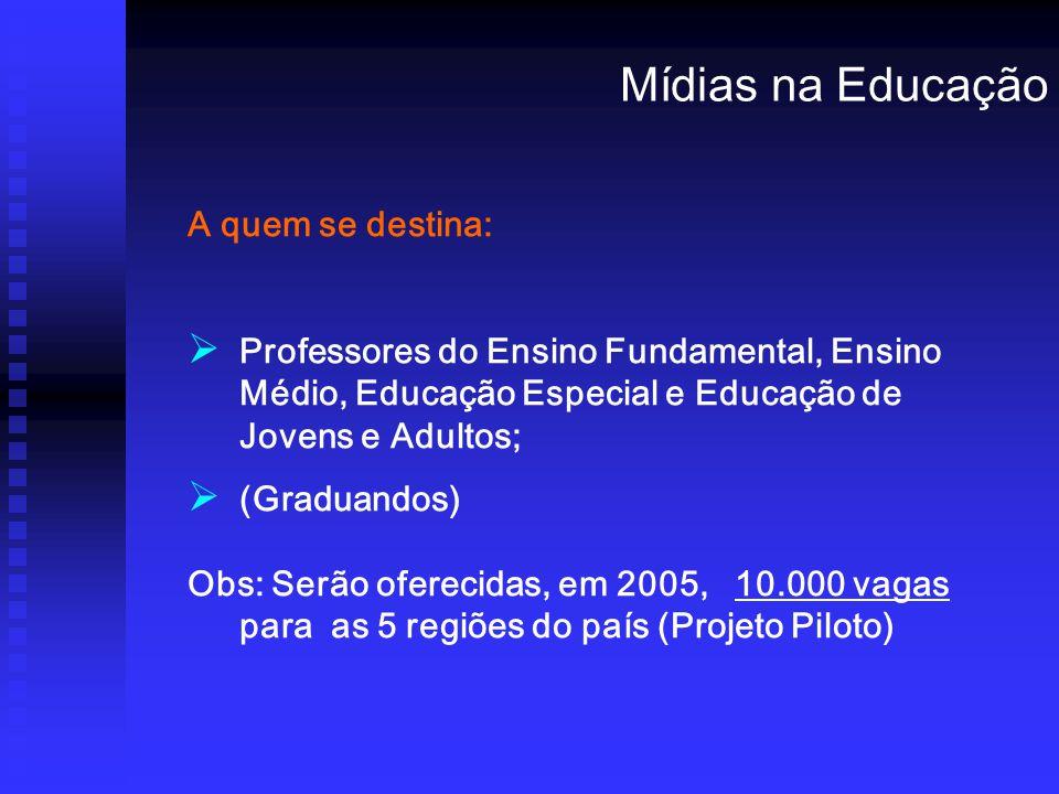Mídias na Educação A quem se destina: