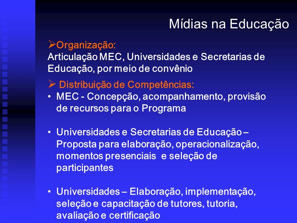 Mídias na Educação Organização: