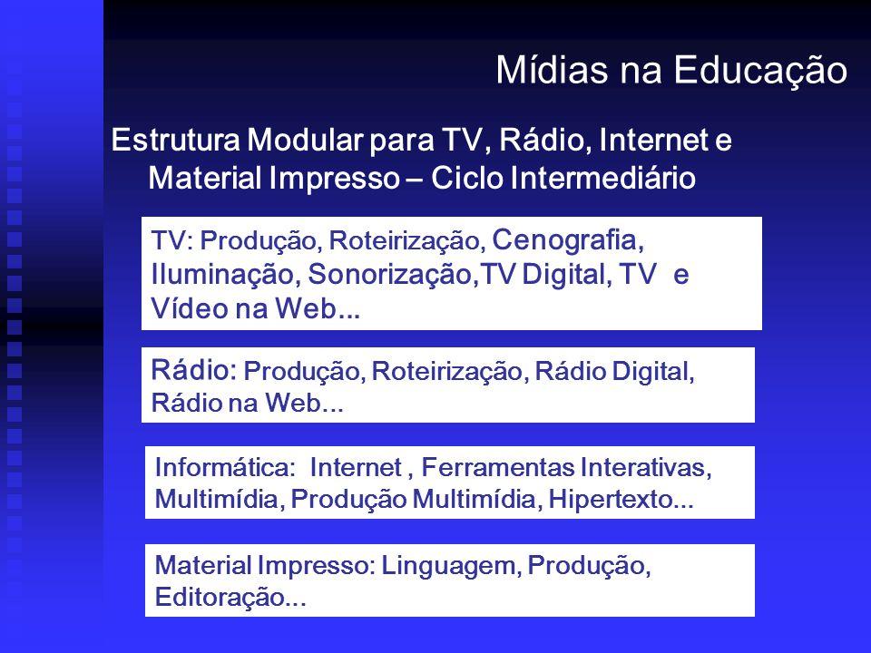 Mídias na Educação Estrutura Modular para TV, Rádio, Internet e Material Impresso – Ciclo Intermediário.