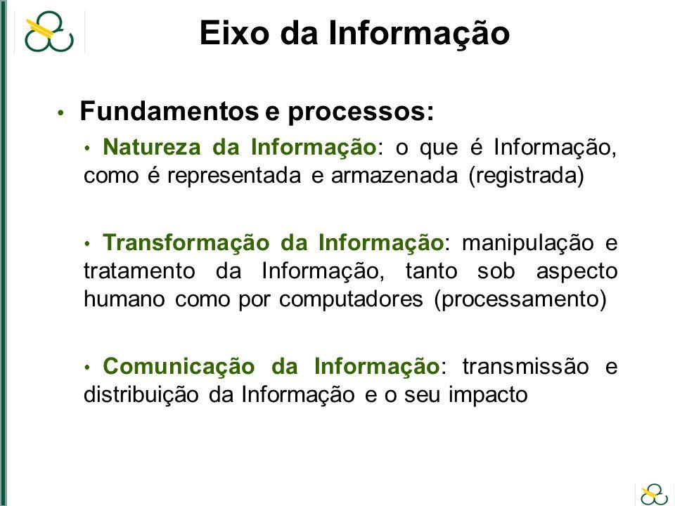 Eixo da Informação Fundamentos e processos: