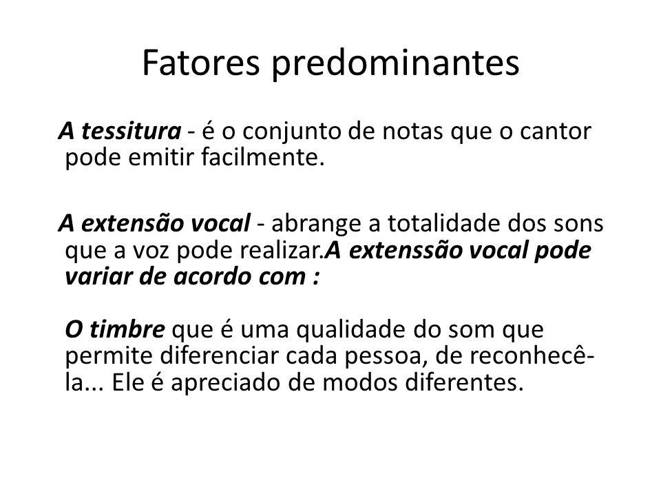 Fatores predominantes