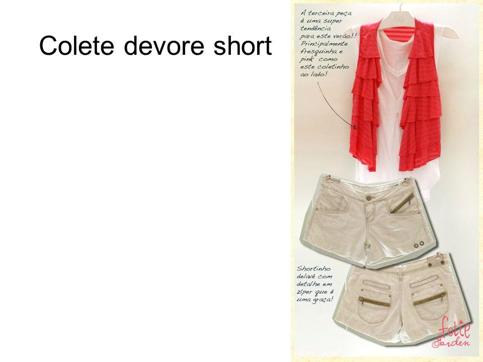Colete devore short