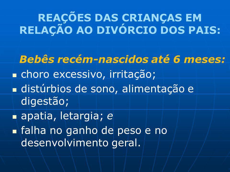 REAÇÕES DAS CRIANÇAS EM RELAÇÃO AO DIVÓRCIO DOS PAIS:
