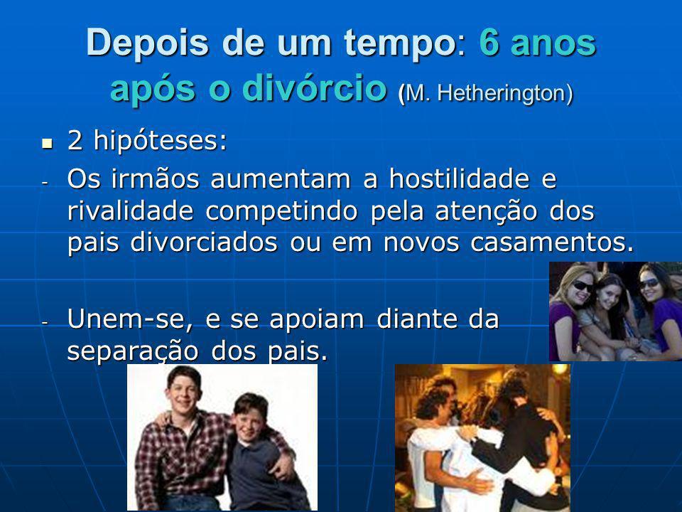 Depois de um tempo: 6 anos após o divórcio (M. Hetherington)