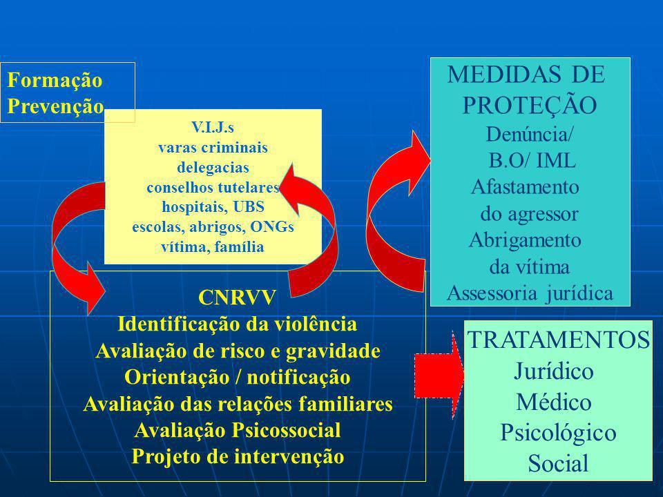MEDIDAS DE PROTEÇÃO TRATAMENTOS Jurídico Médico Psicológico Social