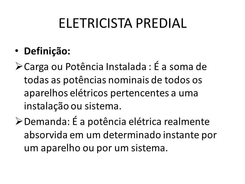 ELETRICISTA PREDIAL Definição: