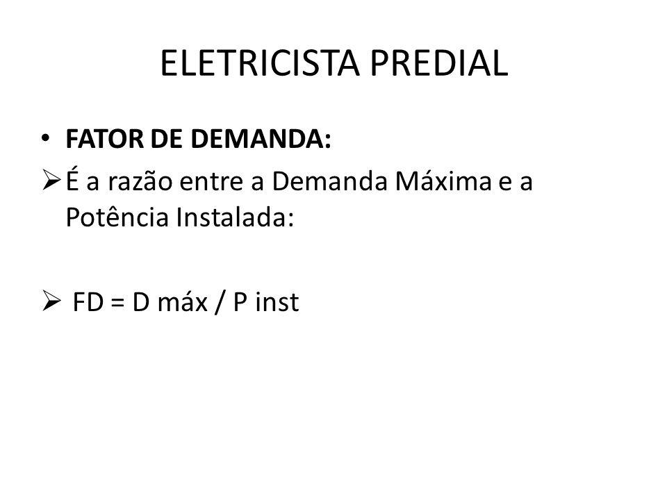 ELETRICISTA PREDIAL FATOR DE DEMANDA: