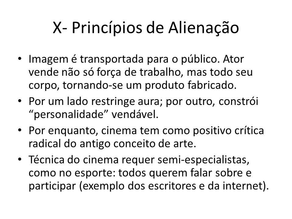 X- Princípios de Alienação