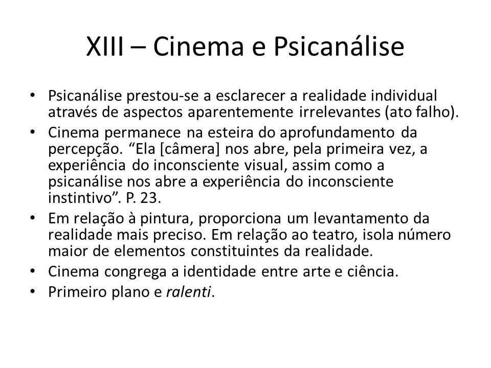 XIII – Cinema e Psicanálise