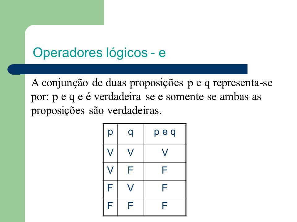 Operadores lógicos - e
