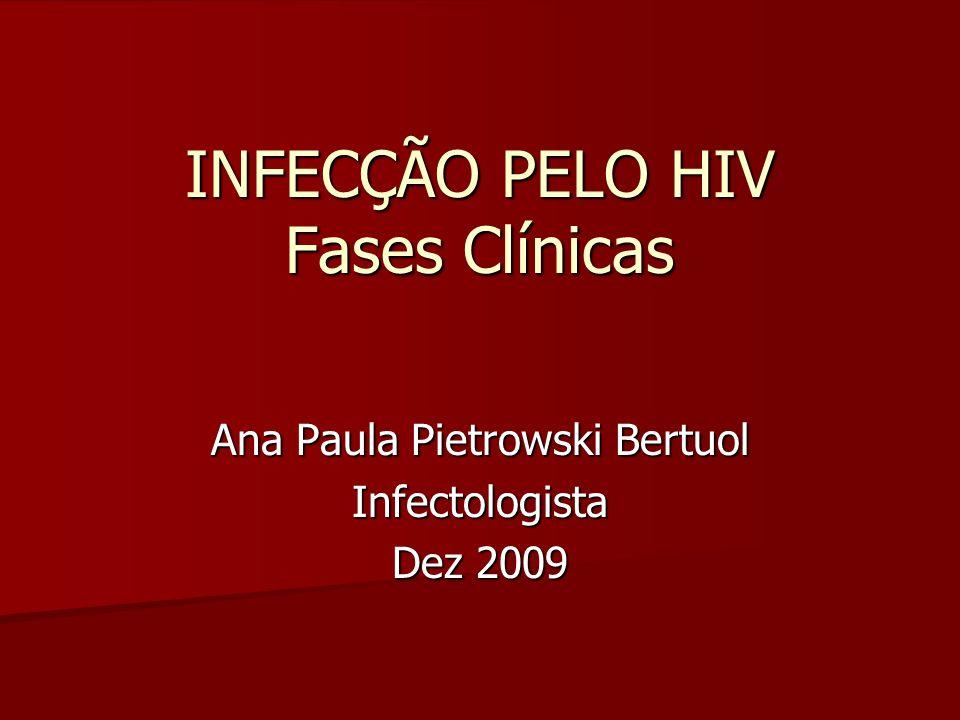 INFECÇÃO PELO HIV Fases Clínicas