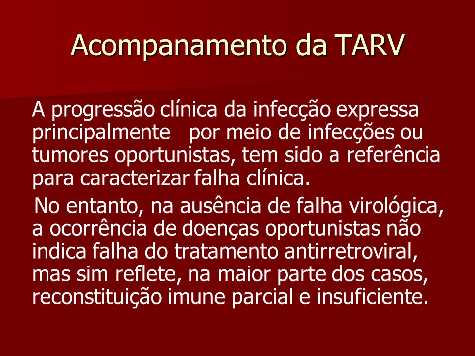 Acompanamento da TARV