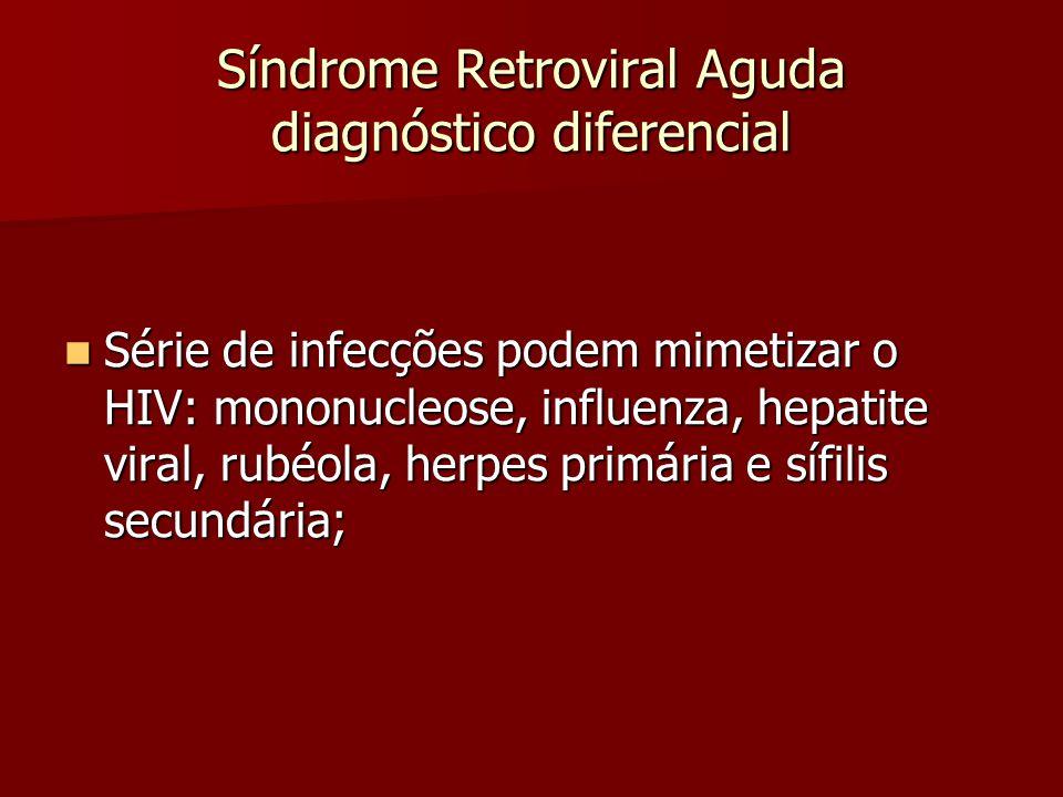 Síndrome Retroviral Aguda diagnóstico diferencial