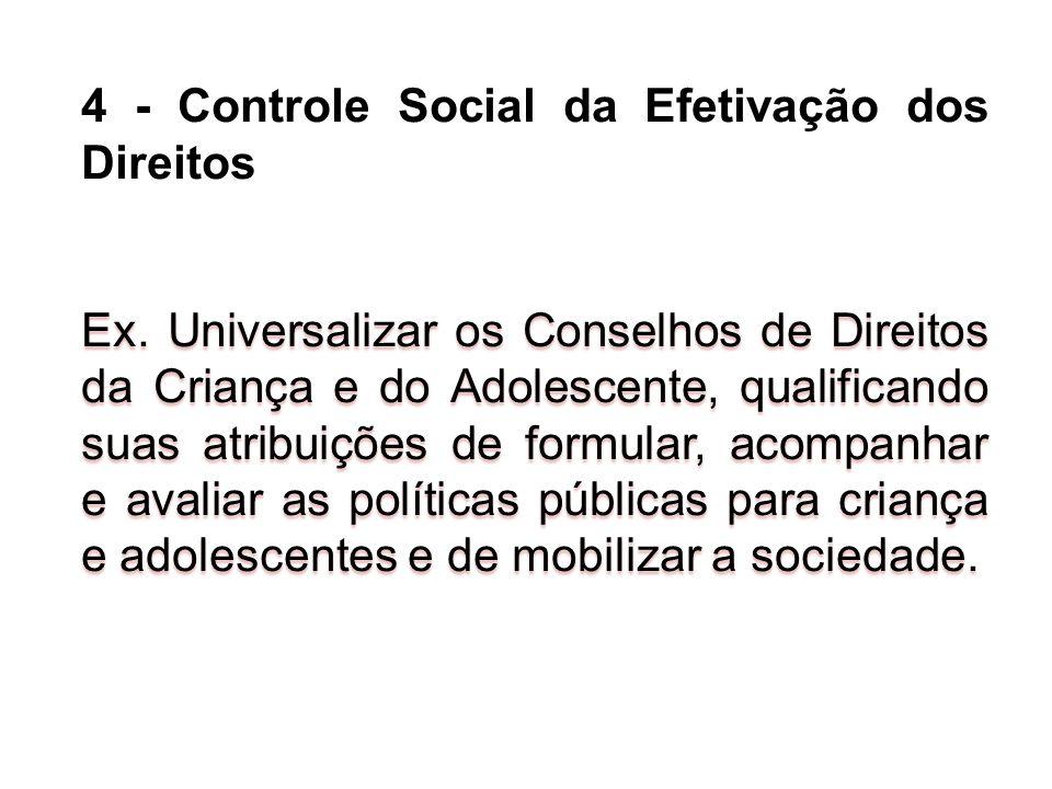 4 - Controle Social da Efetivação dos Direitos
