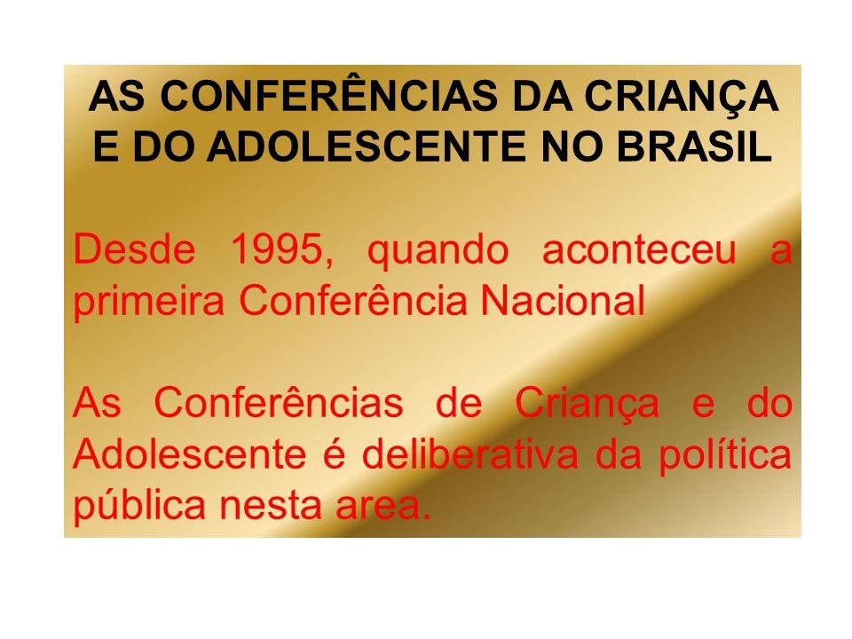 AS CONFERÊNCIAS DA CRIANÇA E DO ADOLESCENTE NO BRASIL