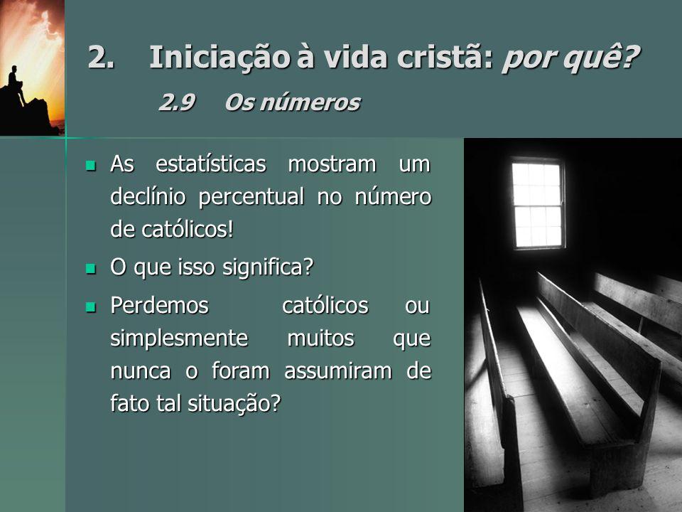 2. Iniciação à vida cristã: por quê 2.9 Os números