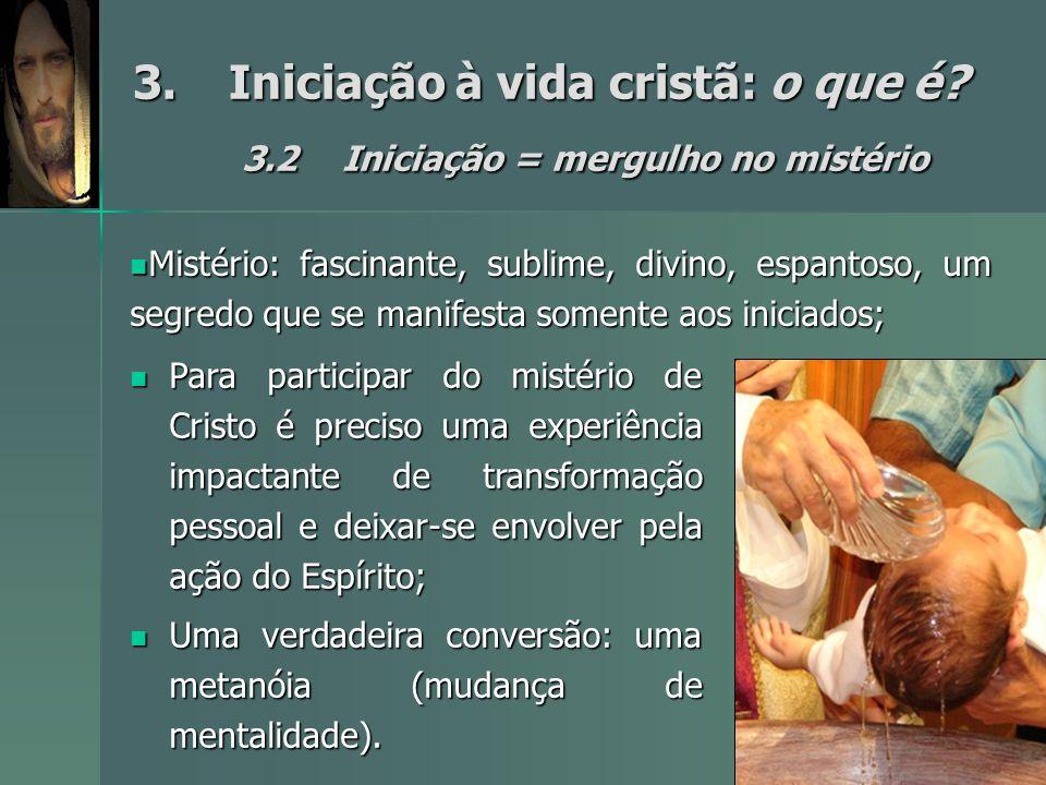 3. Iniciação à vida cristã: o que é. 3. 2