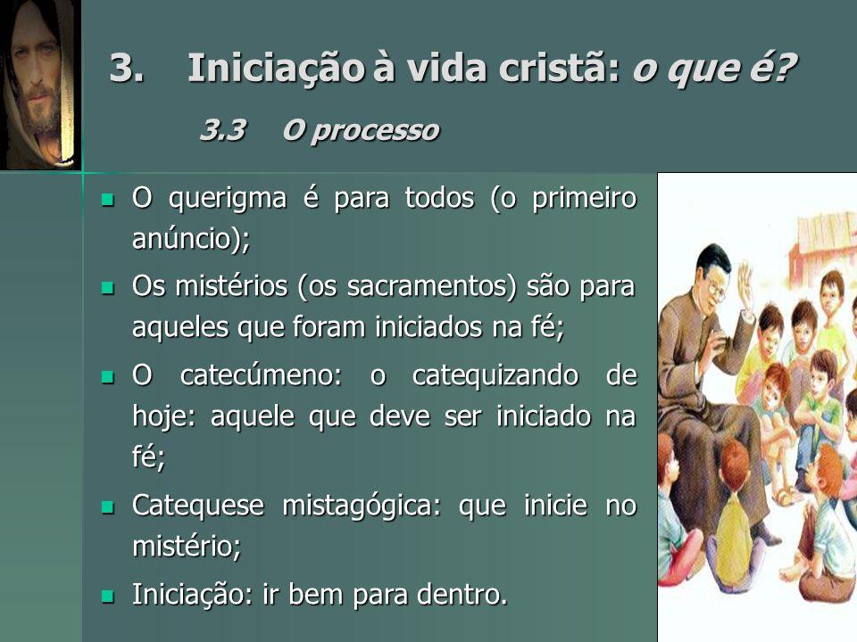 3. Iniciação à vida cristã: o que é 3.3 O processo