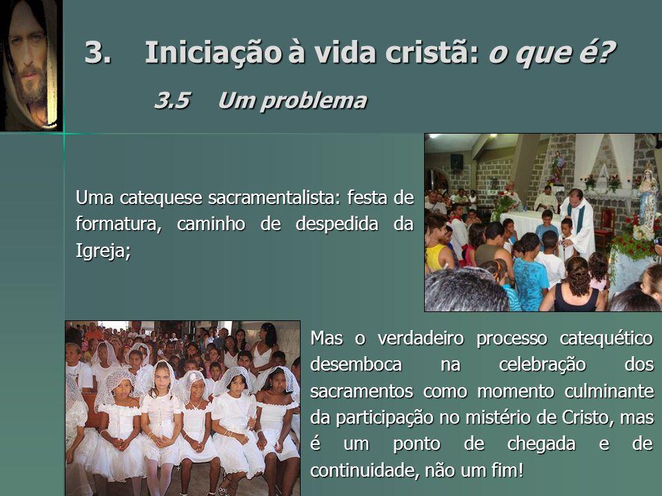3. Iniciação à vida cristã: o que é 3.5 Um problema